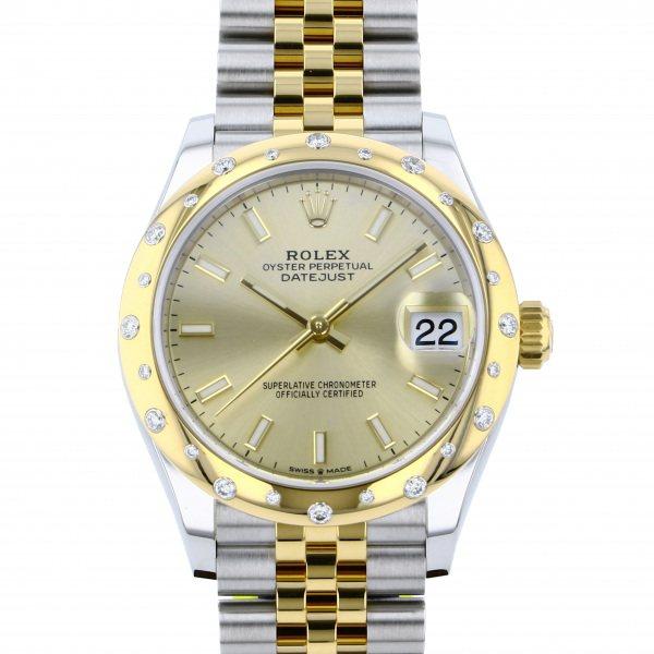ロレックス ROLEX デイトジャスト 278343RBR シャンパン文字盤 レディース 腕時計 【新品】
