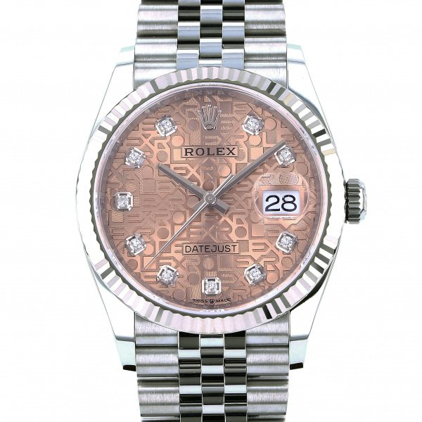 ロレックス ROLEX デイトジャスト 36 126234G ピンク文字盤 メンズ 腕時計 【新品】