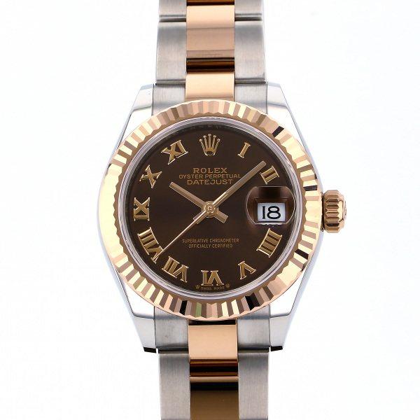 ロレックス ROLEX デイトジャスト 28 279171 チョコレートローマ文字盤 レディース 腕時計 【新品】