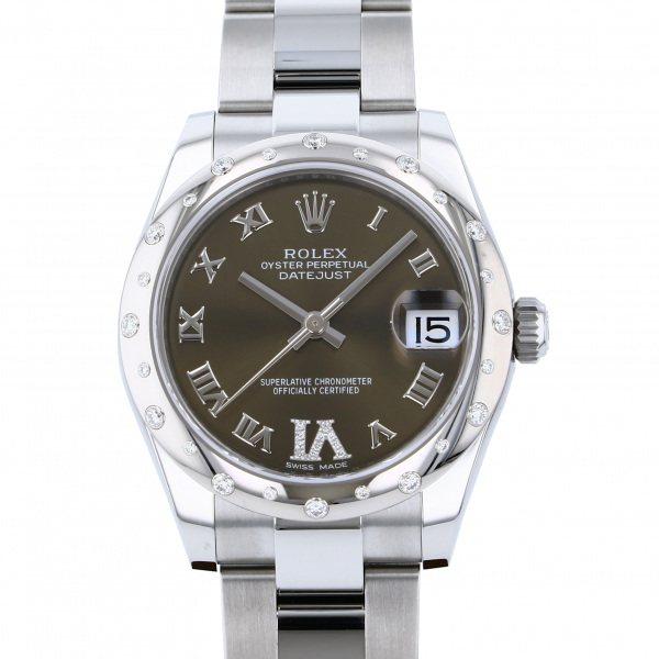 ロレックス ROLEX デイトジャスト 178344G ブロンズローマ(VIダイヤ)文字盤 レディース 腕時計 【新品】