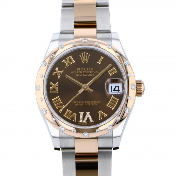 ロレックス ROLEX デイトジャスト 278341RBR チョコレートローマ(VIダイヤ)文字盤 レディース 腕時計 【新品】