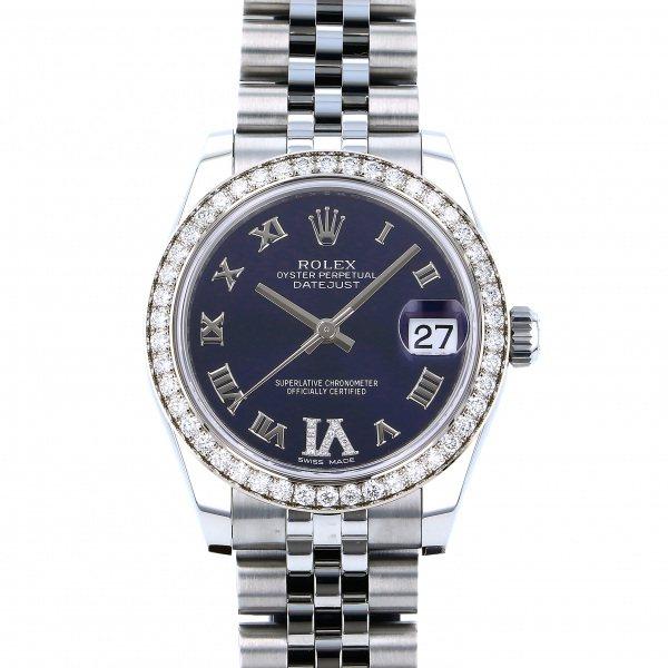 ロレックス ROLEX デイトジャスト 31 178384G パープルローマ(VIダイヤ)文字盤 レディース 腕時計 【新品】