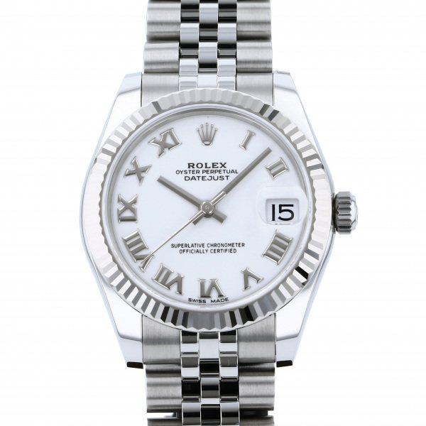 【期間限定ポイント5倍 5/5~5/31】 ロレックス ROLEX デイトジャスト 178274 ホワイトローマ文字盤 レディース 腕時計 【新品】