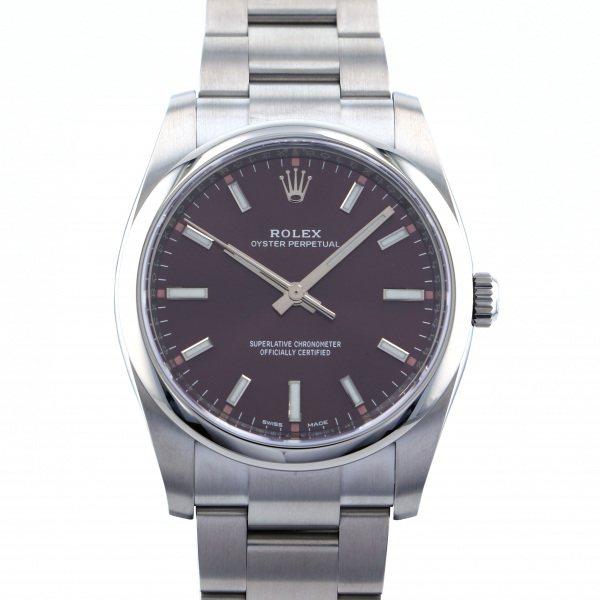 ロレックス ROLEX オイスターパーペチュアル 114200 レッドグレープ文字盤 メンズ 腕時計 【新品】