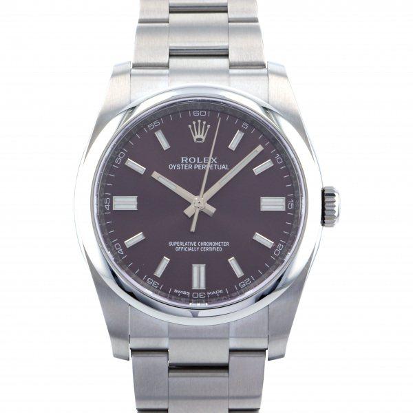 ロレックス ROLEX オイスターパーペチュアル 116000 レッドグレープ文字盤 メンズ 腕時計 【新品】