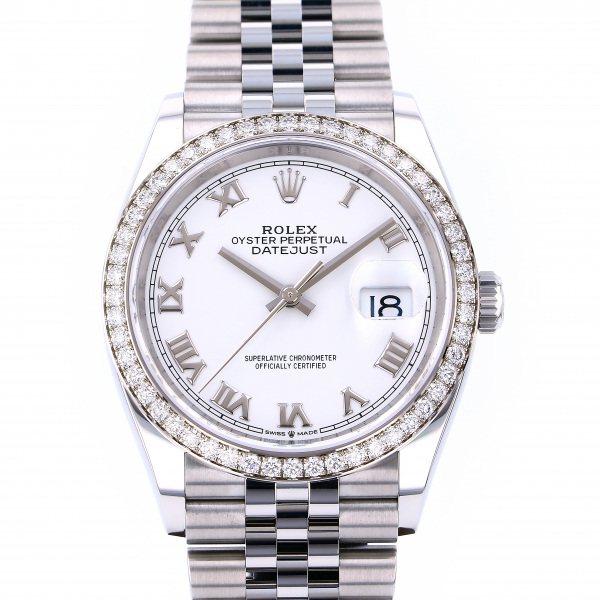 ロレックス ROLEX デイトジャスト 36 126284RBR ホワイトローマ文字盤 メンズ 腕時計 【新品】