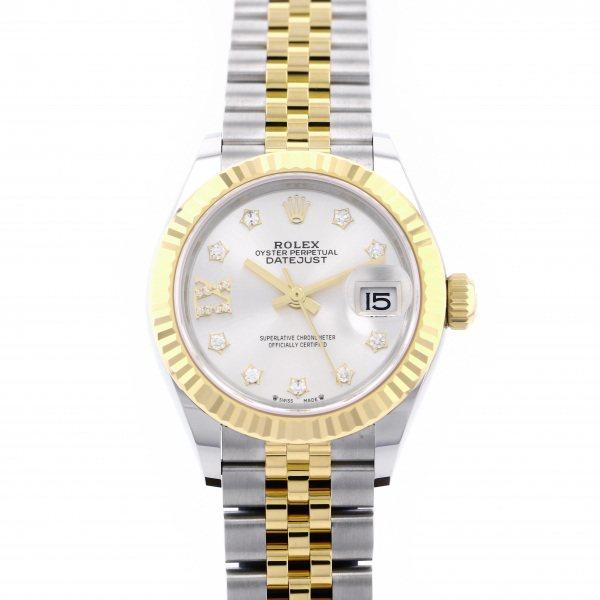 ロレックス ROLEX デイトジャスト 28 279173G シルバー(IXダイヤ)文字盤 レディース 腕時計 【新品】