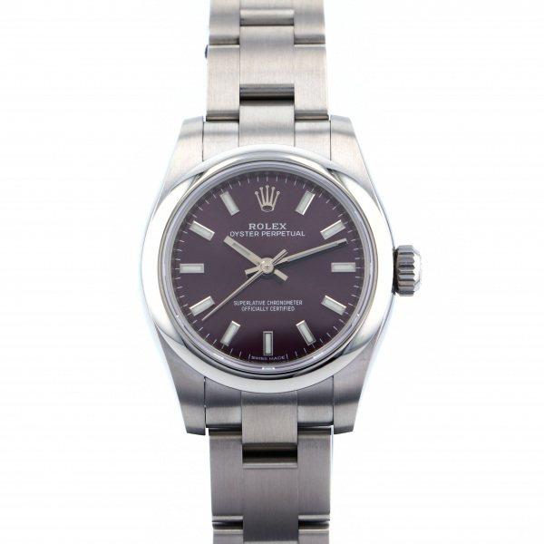 ロレックス ROLEX オイスターパーペチュアル 176200 レッドグレープ文字盤 レディース 腕時計 【新品】