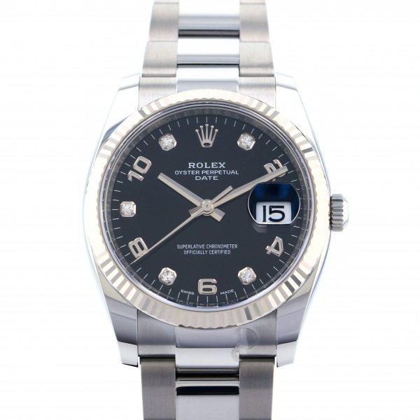 ロレックス ROLEX オイスターパーペチュアル デイト 115234G ブラック文字盤 メンズ 腕時計 【新品】