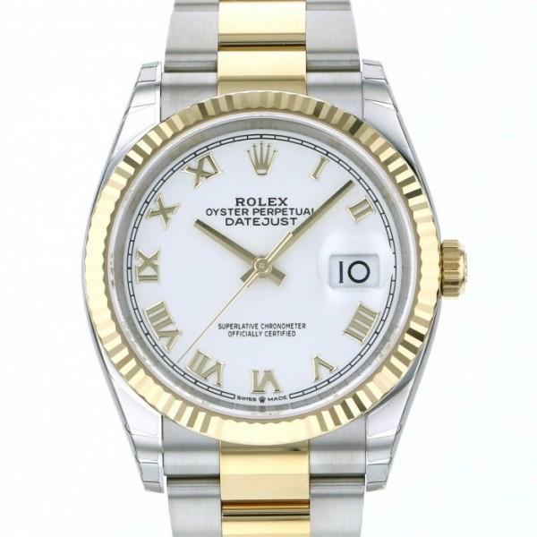 ロレックス ROLEX デイトジャスト 36 126233 ホワイトローマ文字盤 メンズ 腕時計 【新品】