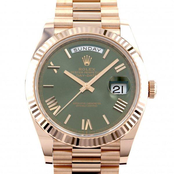 ロレックス ROLEX デイデイト 40 228235 オリーブグリーンローマ文字盤 メンズ 腕時計 【新品】