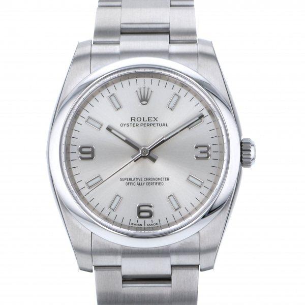 ロレックス ROLEX オイスターパーペチュアル 114200 シルバー文字盤 メンズ 腕時計 【新品】