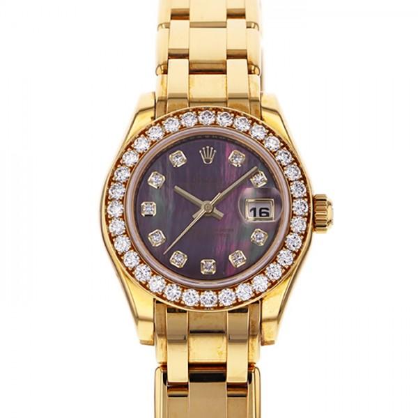 ロレックス ROLEX デイトジャスト パールマスター 80298NG ブラック文字盤 レディース 腕時計 【新品】