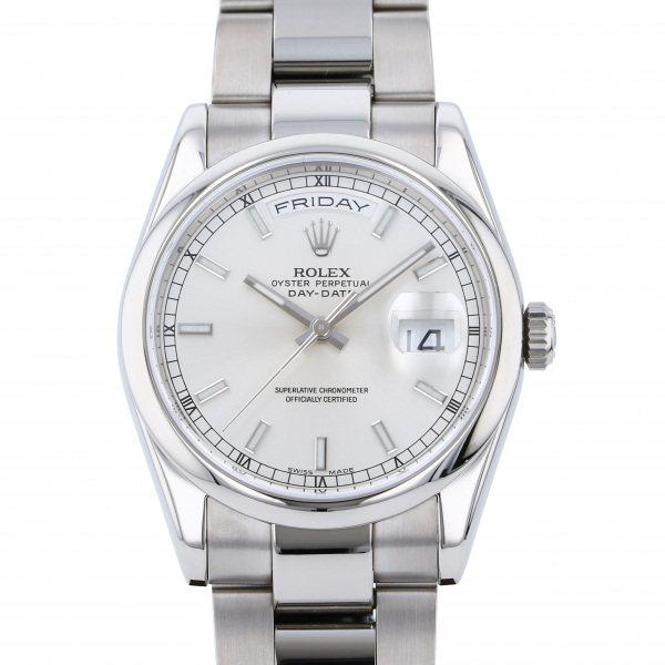 ロレックス ROLEX デイデイト 118209 シルバー文字盤 メンズ 腕時計 【中古】