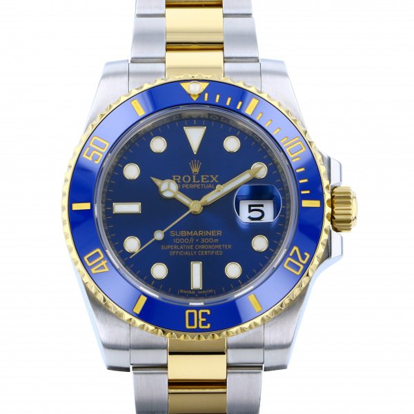 ロレックス ROLEX サブマリーナ デイト 116613LB ブルー文字盤 メンズ 腕時計 【中古】