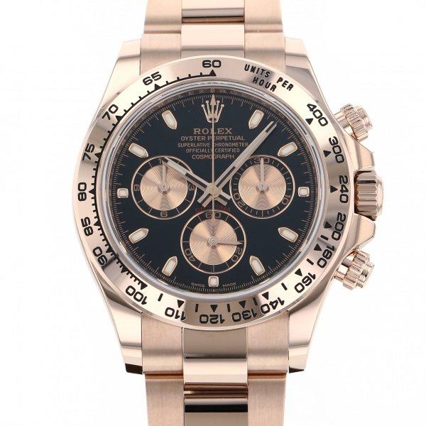 ロレックス ROLEX デイトナ 116505 ブラック/ピンク文字盤 メンズ 腕時計 【新品】