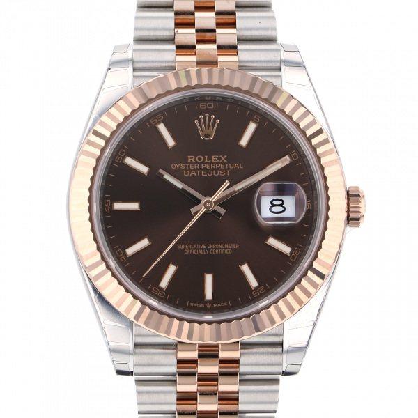ロレックス ROLEX デイトジャスト 41 126331 チョコレート文字盤 メンズ 腕時計 【新品】