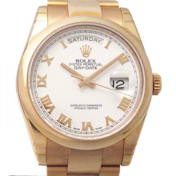 ロレックス ROLEX デイデイト 118205 ホワイトローマ文字盤 メンズ 腕時計 【新品】