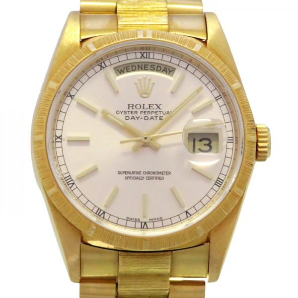 【全品 ポイント10倍 4/9~4/16】ロレックス ROLEX デイデイト 18248 シルバー文字盤 メンズ 腕時計 【中古】