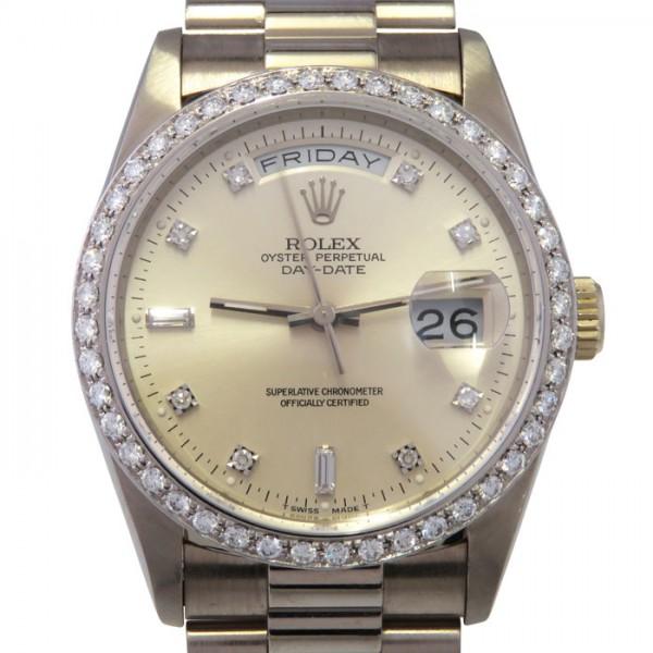 ホットセール ロレックス メンズ ROLEX デイデイト ベゼルダイヤ 18349A ROLEX シルバー文字盤 腕時計 ロレックス メンズ, ギギliving:24441d86 --- kidsarena.in