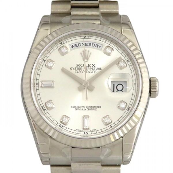 ロレックス ROLEX デイデイト 118239A シルバー文字盤 メンズ 腕時計 【新品】