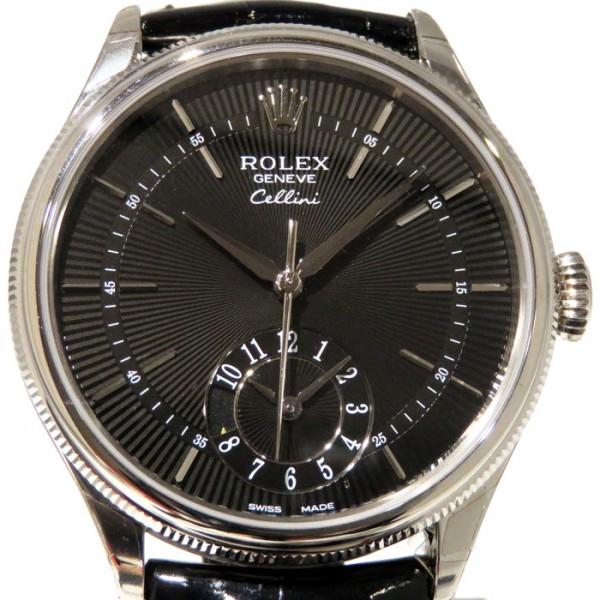ロレックス ROLEX チェリーニ デュアルタイム 50529 ブラック文字盤 メンズ 腕時計 【新品】