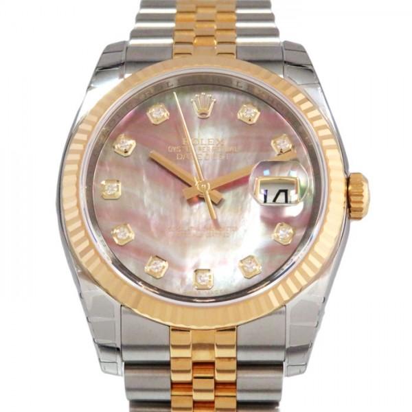 ロレックス ROLEX デイトジャスト 116233NG ブラックアラビア文字盤 メンズ 腕時計 【新品】