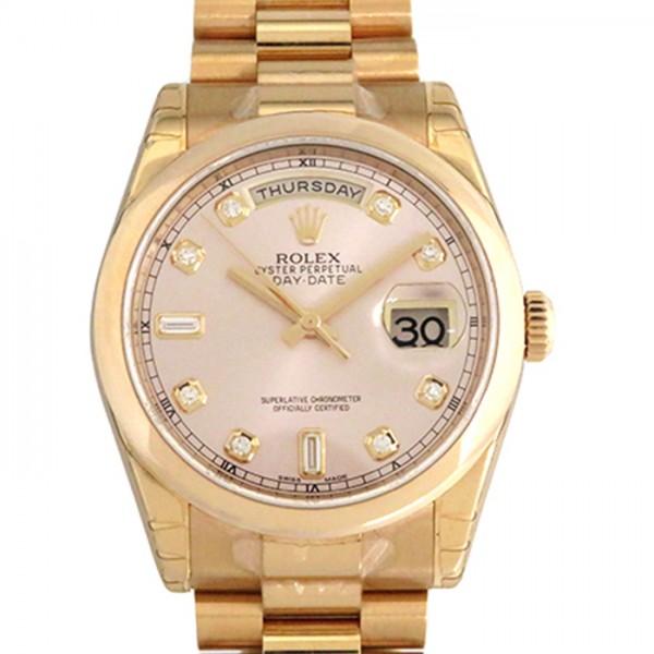 ロレックス ROLEX デイデイト 118235A ピンク文字盤 メンズ 腕時計 【新品】