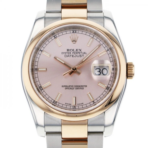 ロレックス ROLEX デイトジャスト 116201 ピンク文字盤 メンズ 腕時計 【中古】