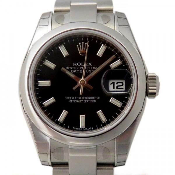 ロレックス ROLEX デイトジャスト 179160 ブラック文字盤 レディース 腕時計 【新品】