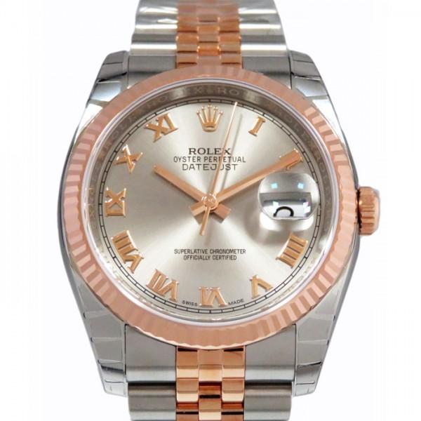 ロレックス ROLEX デイトジャスト 116231 グレーローマ文字盤 メンズ 腕時計 【新品】