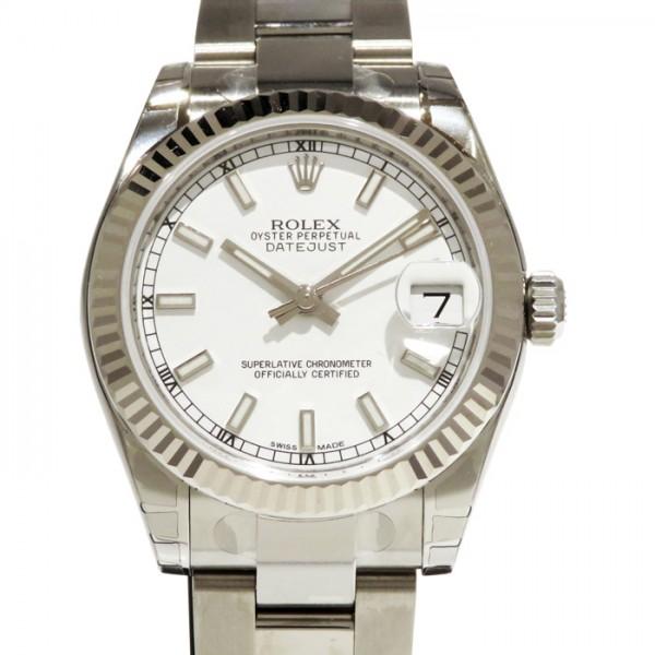 ロレックス ROLEX デイトジャスト 178274 ホワイト文字盤 レディース 腕時計 【新品】