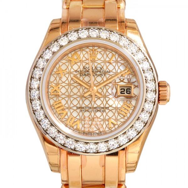 ロレックス ROLEX デイトジャスト パールマスター29 80285NR ホワイト/ロータスフラワー文字盤 レディース 腕時計 【新品】