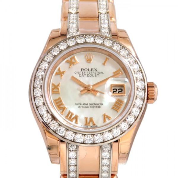 ロレックス ROLEX デイトジャスト パールマスター29 80285NR ホワイトローマ文字盤 新品 腕時計 レディース