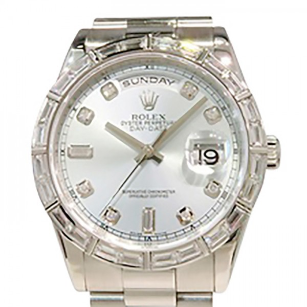 ロレックス ROLEX デイデイト 118366A アイスブルー文字盤 メンズ 腕時計 【中古】
