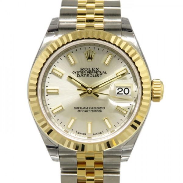 ロレックス ROLEX デイトジャスト 28 279173 シルバー文字盤 レディース 腕時計 【新品】