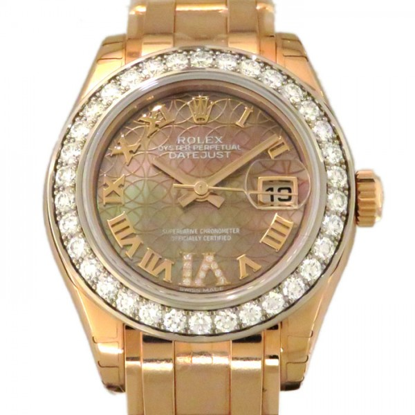 ロレックス ROLEX デイトジャスト パールマスター29 80285NR ブラックローマ/ロータスフラワー(VIダイヤ)文字盤 レディース 腕時計 【新品】