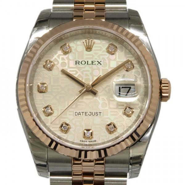 ロレックス ROLEX デイトジャスト 116231G シルバー文字盤 メンズ 腕時計 【新品】