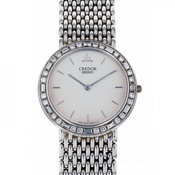 セイコー SEIKO その他 クレドール ベゼルダイヤ 8N70-6102 シルバー文字盤 メンズ 腕時計 【アンティーク】