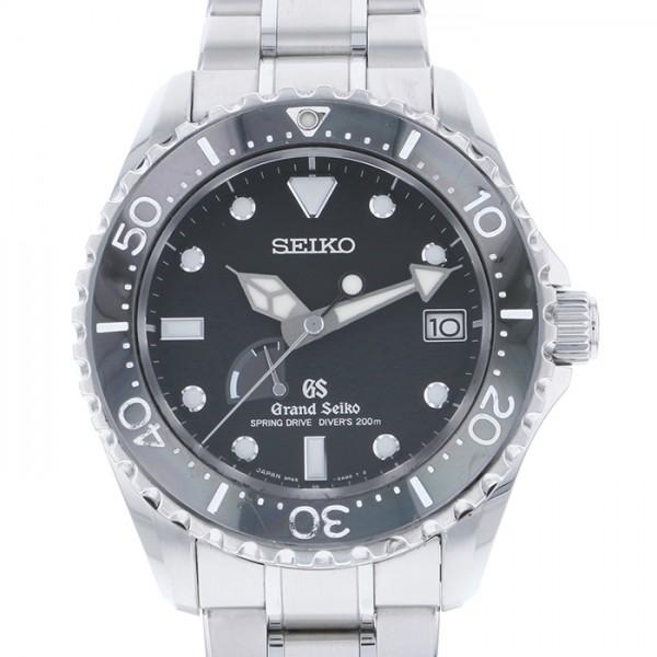 セイコー SEIKO その他 グランドセイコー スプリングドライブ ダイバー SBGA029 ブラック文字盤 メンズ 腕時計 【中古】