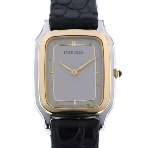セイコー SEIKO その他 クレドール 8420-6730 グレー文字盤 メンズ 腕時計 【中古】