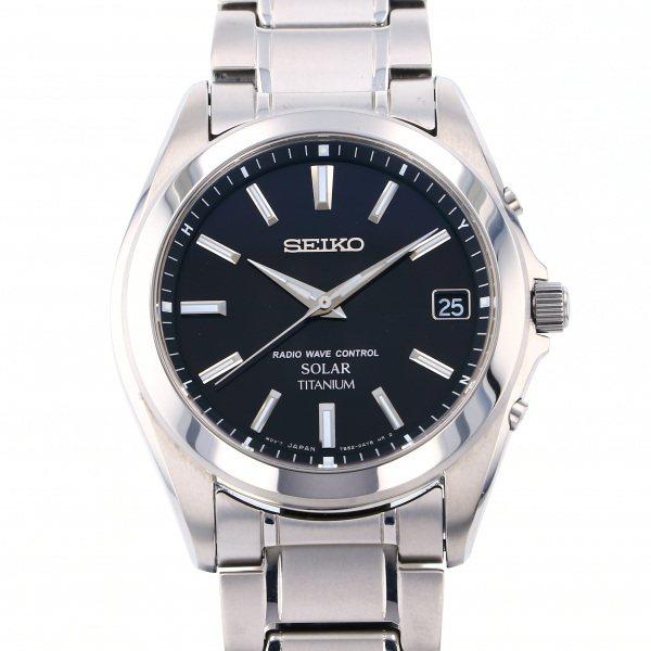 セイコー SEIKO その他 セイコーセレクション SBTM217 ブラック文字盤 メンズ 腕時計 【中古】
