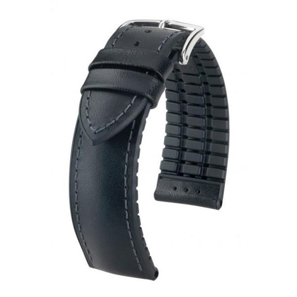 販売実績No.1 純正ストラップ STRAP ヒルシュ JAMES ジェームス ブラック 新品 サイズM 尾錠幅18mm メンズ 腕時計替えベルト 送料無料お手入れ要らず ラグ幅20mm