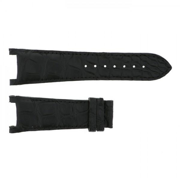 純正ストラップ STRAP ジオ・モナコ ジオポリス用 ブラッククロコ 新品 腕時計替えベルト メンズ