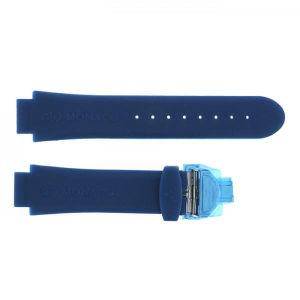 純正ストラップ STRAP ジオ・モナコ ブルーラバー 新古品 腕時計替えベルト メンズ