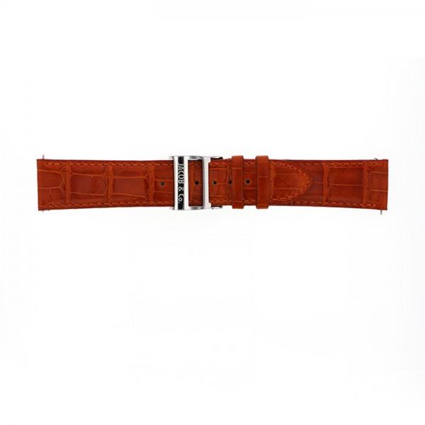 純正ストラップ STRAP ジェイコブ レッドクロコ 新品 腕時計替えベルト メンズ