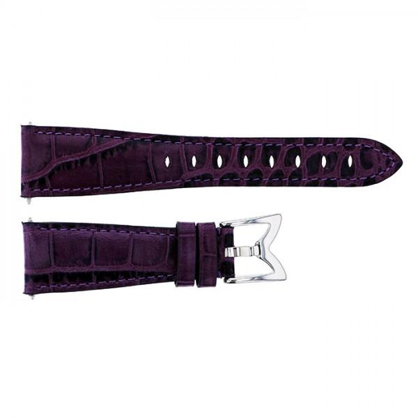【期間限定ポイント3倍 8/2~8/9】 純正ストラップ STRAP ガガミラノ マヌアーレ 40mm用 パープルカーフ(型押し) 新品 腕時計替えベルト レディース
