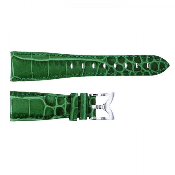 純正ストラップ STRAP ガガミラノ 40mm用 グリーンカーフ型押し 新品 腕時計替えベルト レディース