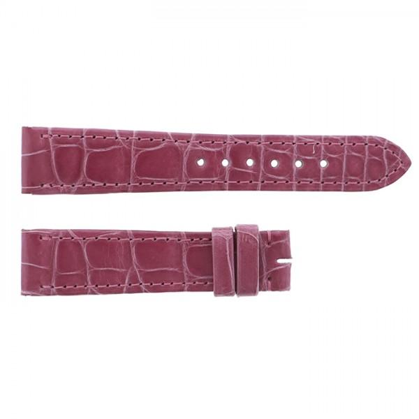 純正ストラップ STRAP カルティエ タンクアングレース用 ピンククロコ 新品 腕時計替えベルト レディース