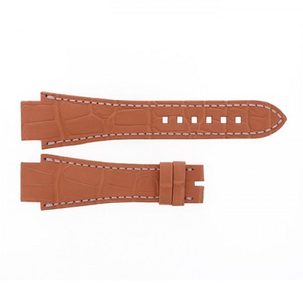 純正ストラップ STRAP ハリー・ウィンストン ライトブラウンクロコ - メンズ 腕時計替えベルト 【新品】